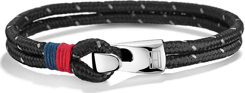 Tommy Hilfiger Fekete dupla karkötő TH2700757