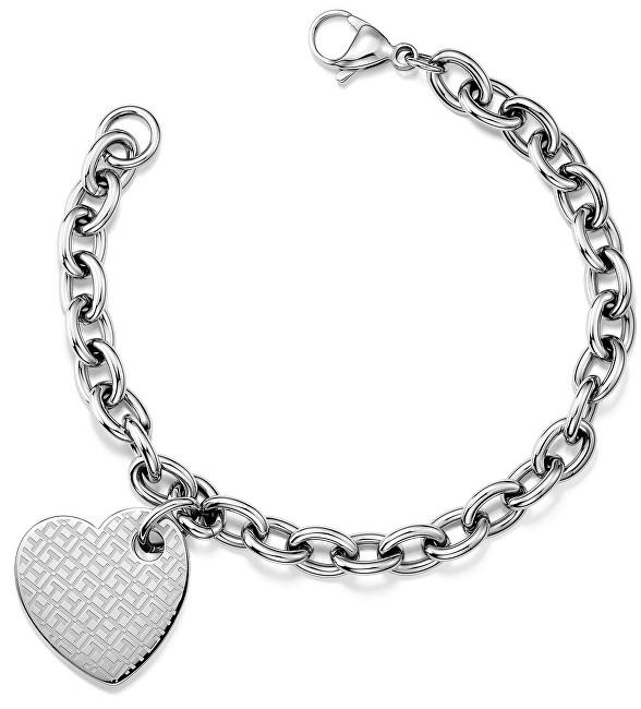 Tommy Hilfiger Női acél karkötő szívvel TH2700706