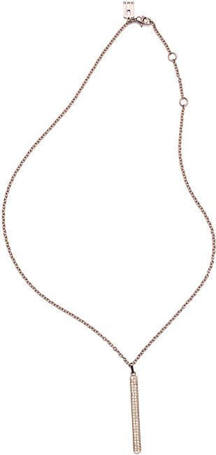 Tommy Hilfiger Elegantný náhrdelník s príveskom vo farbe ružového zlata TH2700568