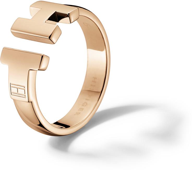 Tommy Hilfiger Luxusní bronzový prsten z oceli TH2700862 56 mm
