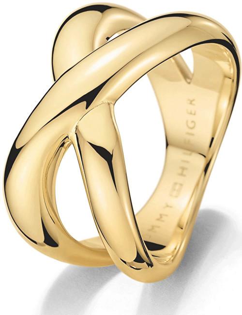 Tommy Hilfiger Masivní zlatý prsten z oceli TH2700964 58 mm