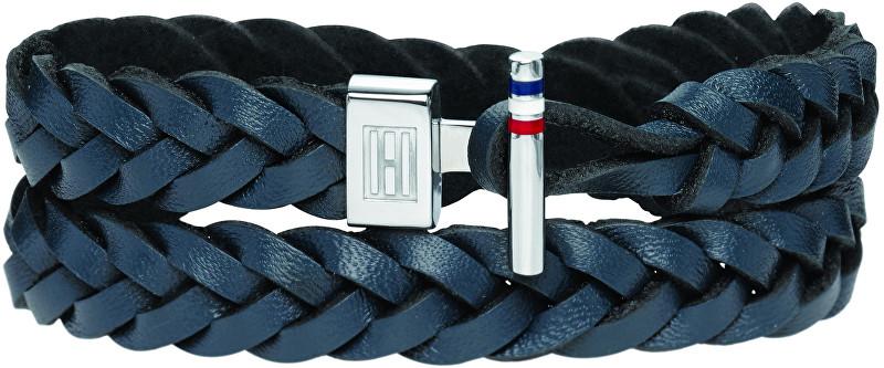 Tommy Hilfiger Modrý kožený náramek TH2700533