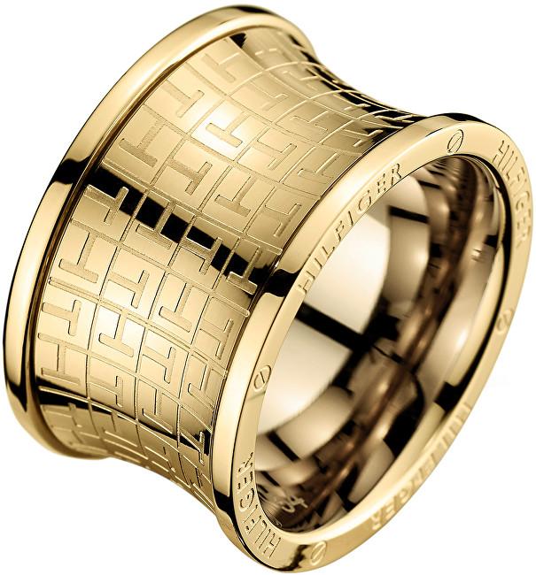 Tommy Hilfiger Originální zlatý prsten z oceli TH2700817 54 mm
