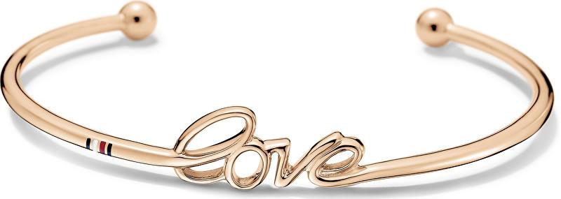 Tommy Hilfiger Brățară solidă de culoare bronz Love TH2700968