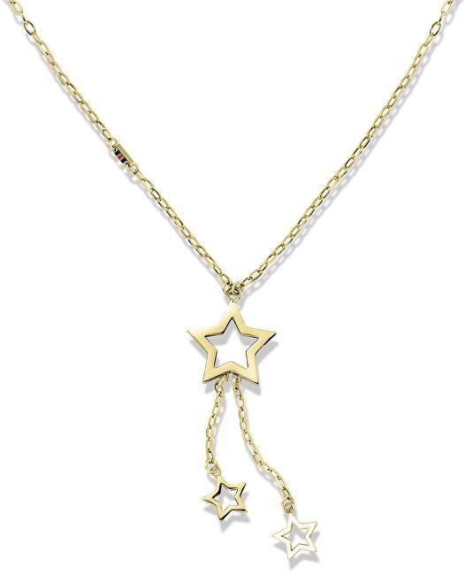 Tommy Hilfiger Zlatý náhrdelník s hvězdičkami TH2700848