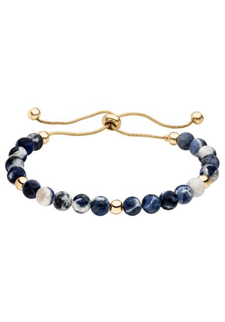 Tamaris Pozlacený náramek Alicia s modrými perlami TF068