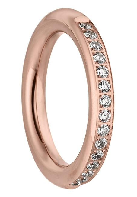 Tamaris Růžově zlacený prsten Emily se zirkony TJ172 56 mm
