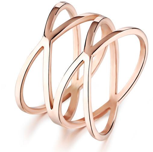 Troli Romantický bronzový prsten z oceli KRS-275 52 mm
