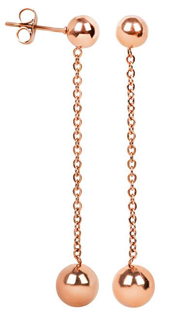 Troli Bronzové ocelové náušnice s kuličkami
