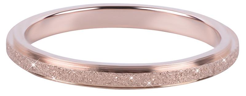 Troli Bronzový ocelový třpytivý prsten 50 mm
