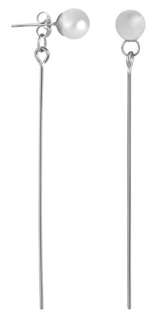 Troli Dlouhé ocelové náušnice s perličkami
