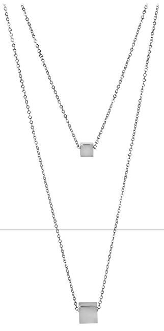 Troli Dvojitý ocelový náhrdelník s kostičkami