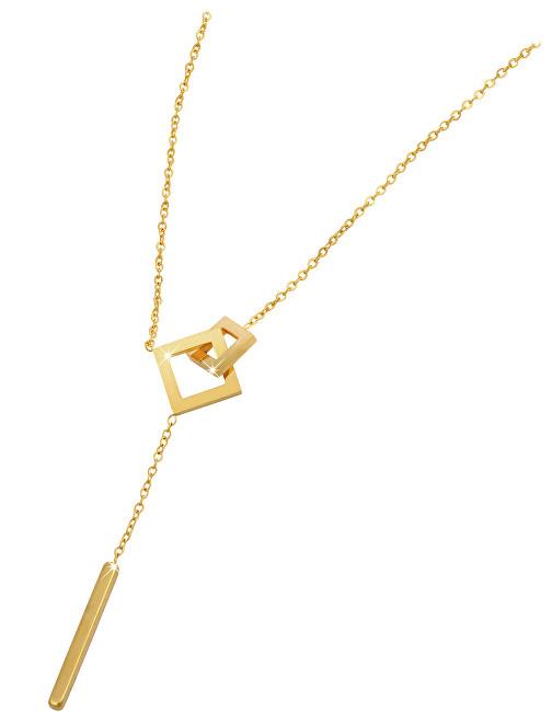Troli Elegantní pozlacený náhrdelník z oceli