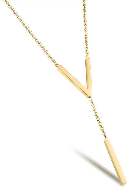Troli Pozlacený ocelový náhrdelník tvarovaný do