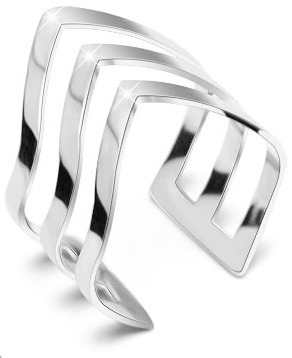 Troli Elegantný trojitý prsteň z ocele