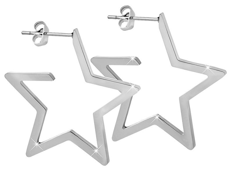 Troli Hviezdne oceľové náušnice