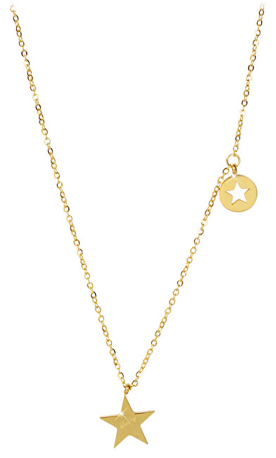 Troli Hvězdný pozlacený náhrdelník