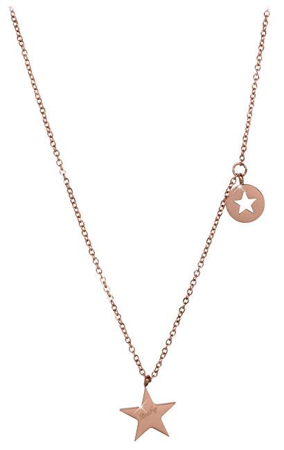 Troli Hvězdný růžově pozlacený náhrdelník