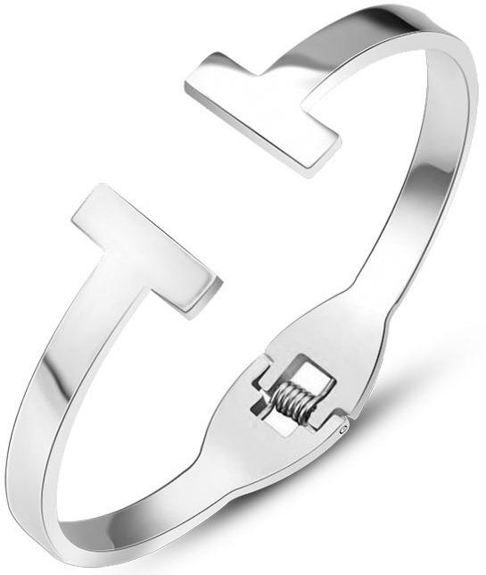 Troli Luxusní ocelový náramek pro ženy 54 silver 1866