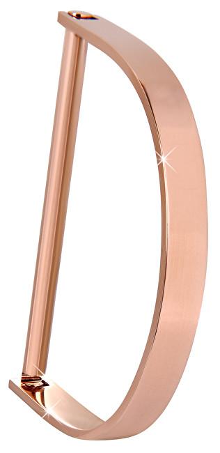 Troli Luxusní růžově zlacený pevný náramek TO2293