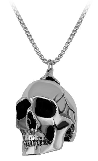 Troli Masivní pánský náhrdelník s lebkou