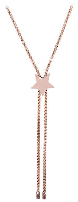 Troli Nastavitelný náhrdelník s hvězdou z růžově pozlacené oceli