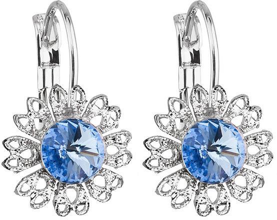 Troli Náušnice Ancient Flowers Light Sapphire