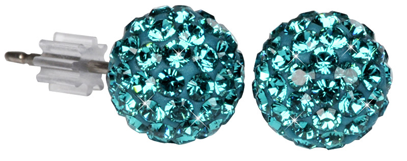 Troli Náušnice Ball PU08 Blue Zircon