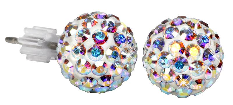 Troli Náušnice Ball PU08 Crystal AB