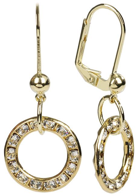 8990f2729 Troli náušnice Circle Crystal zlaté ECIR14N17ZLCrystal