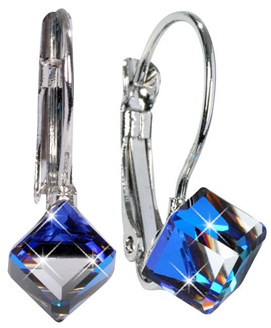Troli náušnice Cube Bermuda Blue E484106KLRHBERMBLUE