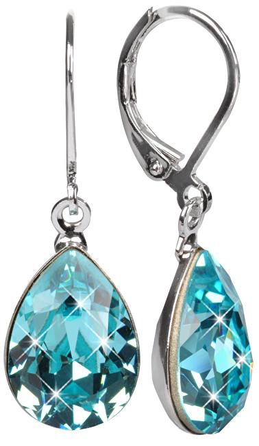 Troli Náušnice Pear 14 mm Light Turquois