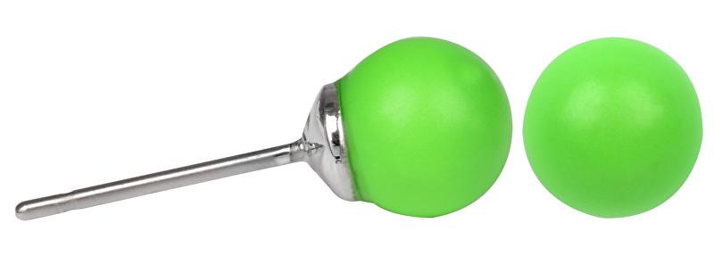 Troli Náušnice Pearl Neon Green