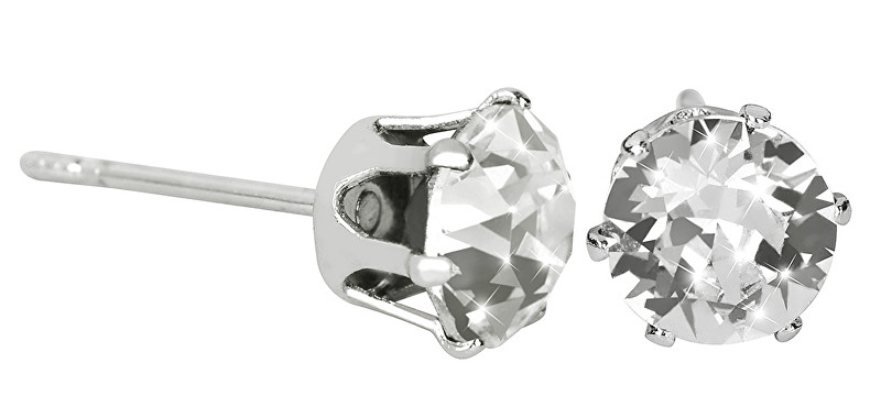 Troli Náušnice pecky French Chaton Crystal