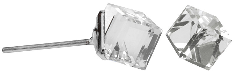 Troli Náušnice s puzetkou Cube Crystal Comet Argent Light