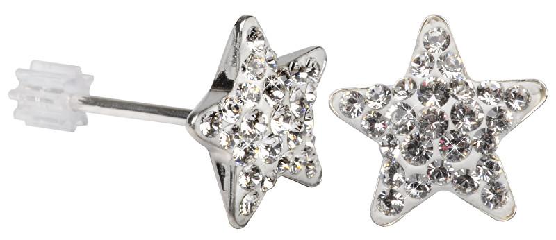 Troli Stříbrné náušnice Star PU10 Crystal