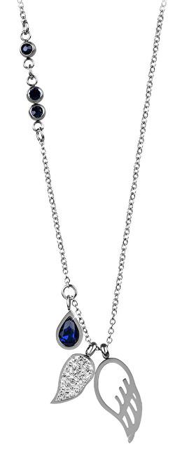Troli Ocelový náhrdelník s andělskými křídly TO2345 Troli