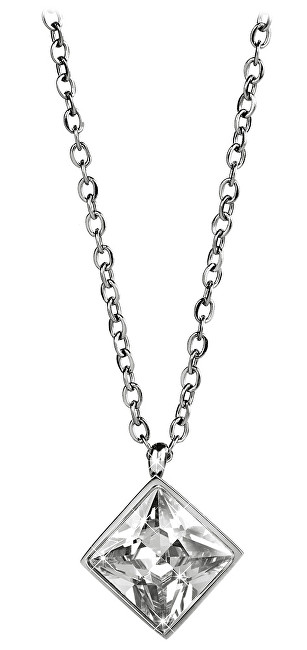 Troli Ocelový náhrdelník s čtvercovým přívěskem