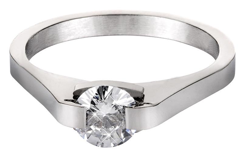 Troli Ocelový prsten s krystalem KRS-088 49 mm