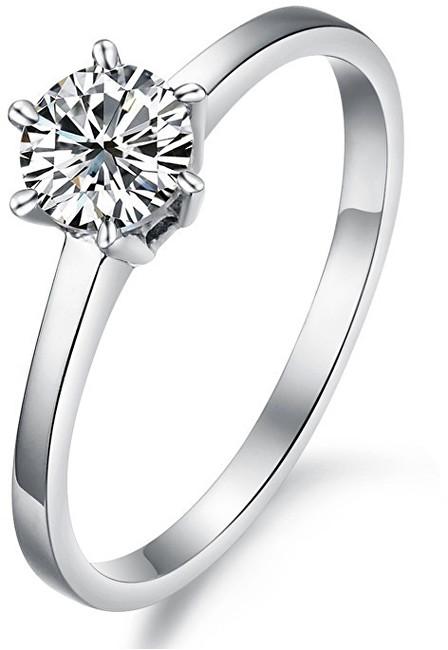 Troli Ocelový prsten s krystalem KRS-126 49 mm