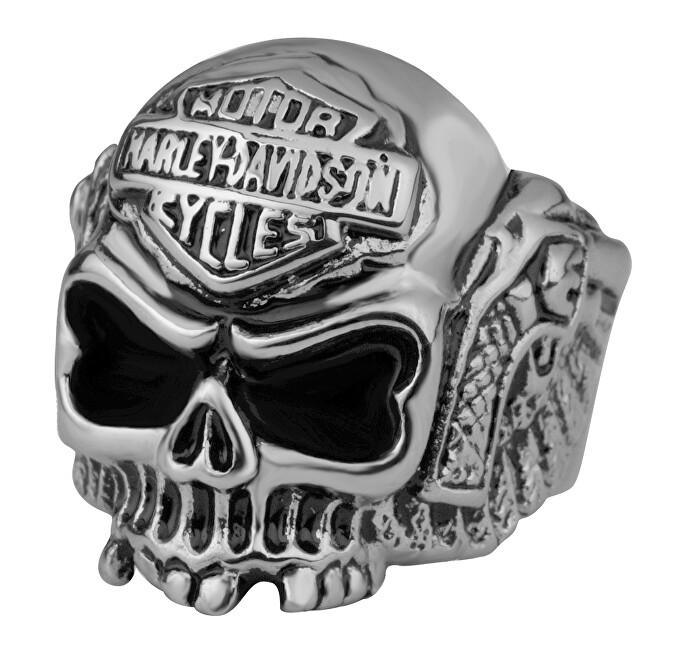 Troli Originální pánský prsten s lebkou 60 mm