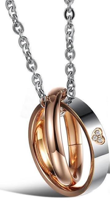 Troli Originální partnerský náhrdelník pro dámy KNSC-064-RG