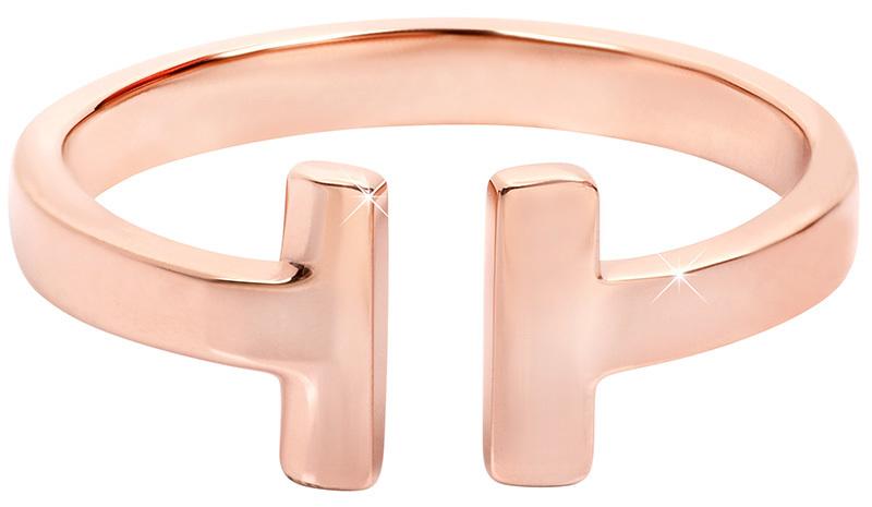 Troli růžově pozlacený prsten z oceli 28 rose gold TO1856