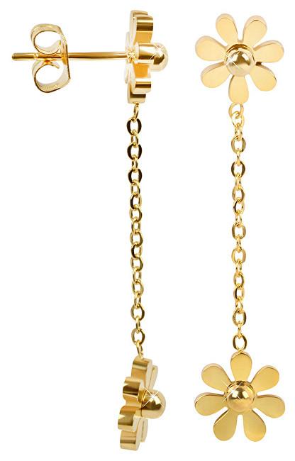 Troli Pozlacené kytičkové náušnice 28 gold TO1861