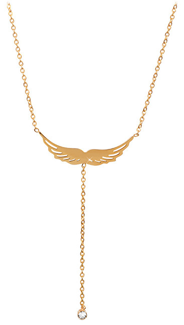 Troli Pozlacený náhrdelník andělské křídlo