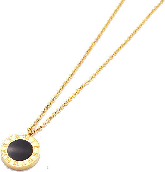 Troli Pozlacený náhrdelník s oboustranným přívěskem