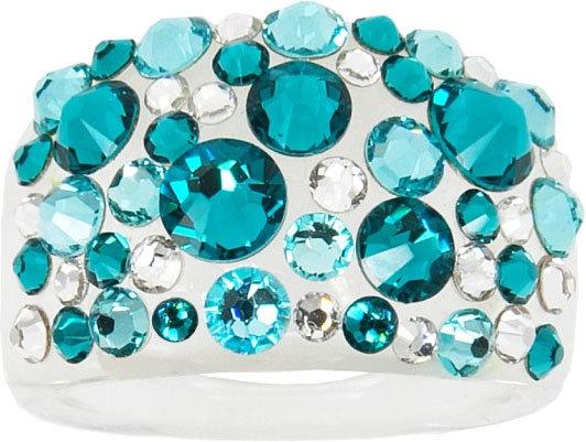 Troli Prsteň Bubble Blue Zircon 59 mm