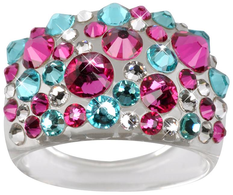 Troli Prsteň Bubble Pink / Turquoise 59 mm