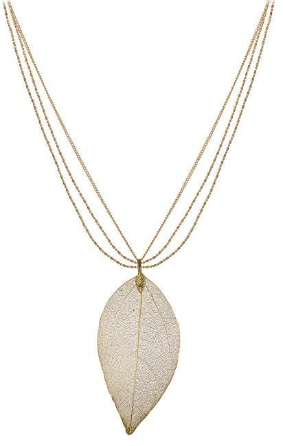 Troli Růžově a žlutě pozlacený náhrdelník s vavřínovým listem Laurel TO1797