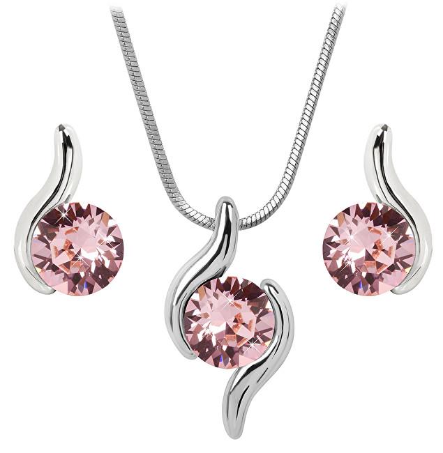 Troli Sada náhrdelníku a náušnic Chaton Wave Light Rose